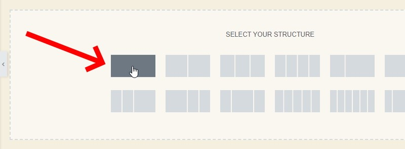 Under Select Your Structure, Click On The Single Rectangle Layout