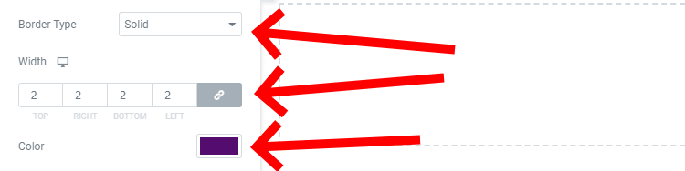 Change The Border To Solid, Give It A Width Of 2px And Change The Color