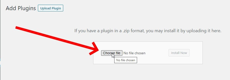 Click Choose File