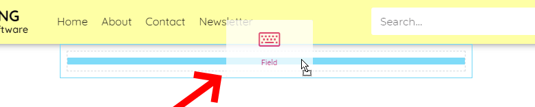 Drag The Field Button All The Way To The Box You've Created For It