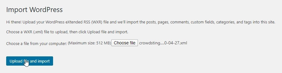 Once You've Located The File And Chosen It, Click The Upload File And Import Button