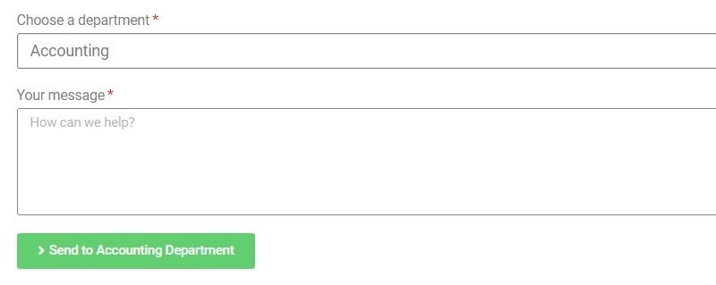 The Accounting Dropdown Item Shows The Send To Accounting Department Button