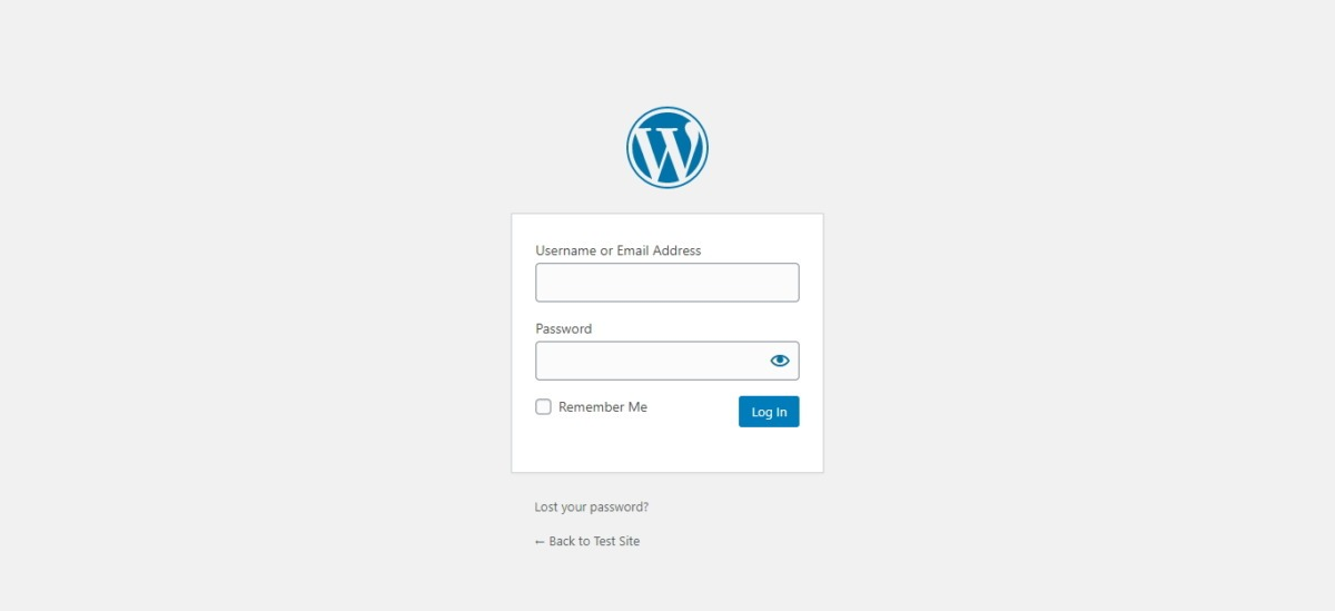 This Is What The Login Form Looks Like For A WordPress Login Page