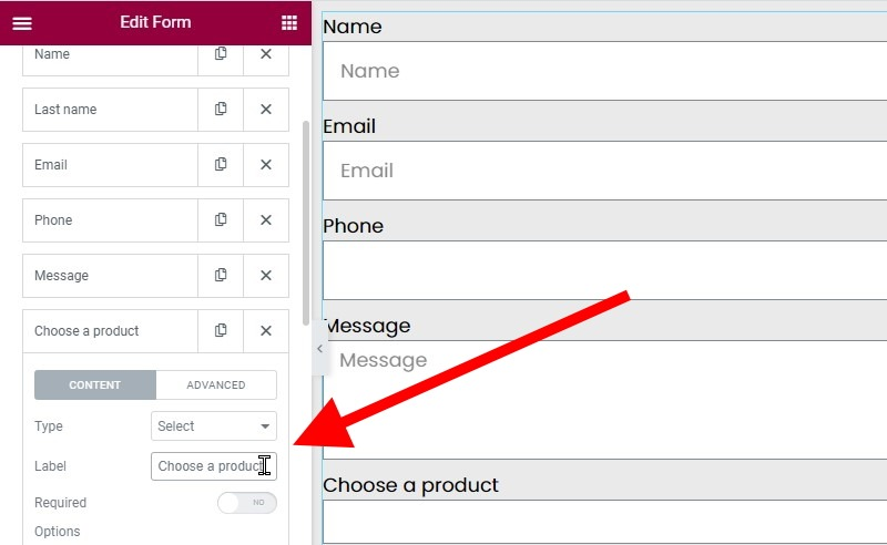 Add A Label To The Select Field