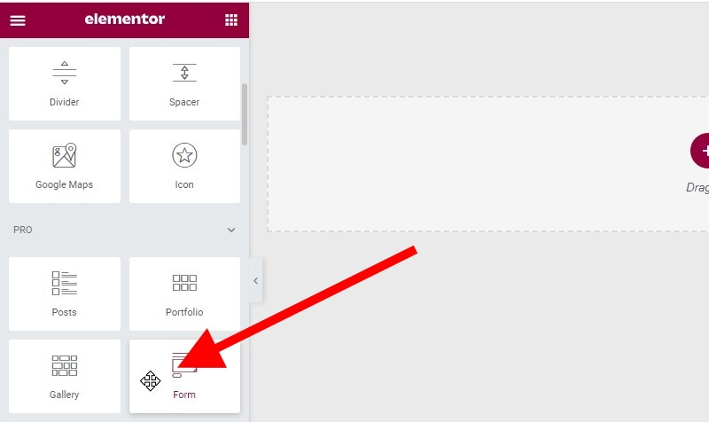 Click And Hold Down Your Mouse Button On The Widget