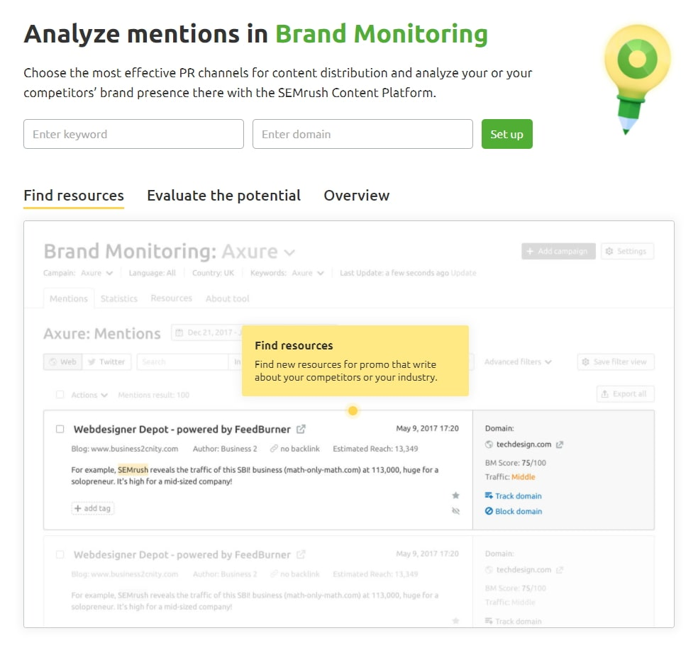 The Brand Monitoring Screen