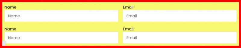 You Now Have Two Sections Containing A Name And Email Field Each