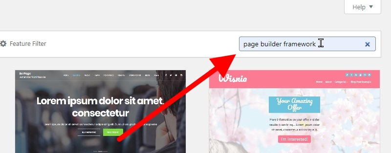 Inside The Search Bar, Type The Words, Page Builder Framework