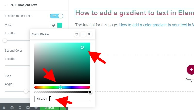 Adjust The Slider And Color Picker Or Simply Paste A New Hex Code Into The Box To Change The Color