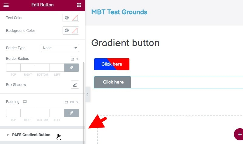Scroll Down To And Click The Pafe Gradient Button Menu Item