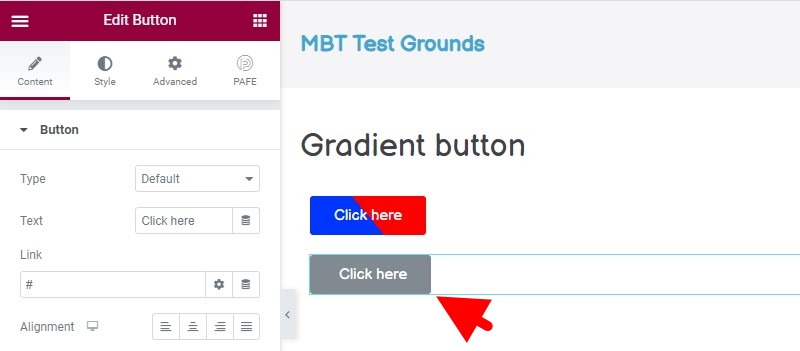 The Second Button, Ready For A Radial Gradient