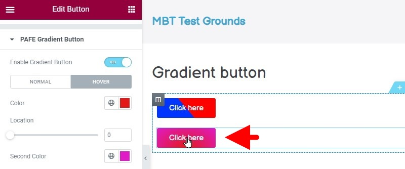 You Now Have A Button With A Radial Gradient Effect The Color Of Which Changes When You Hover Over The Button