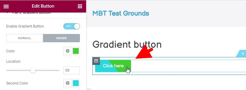 You Now Have A Button With A Gradient Effect The Color Of Which Changes When You Hover Over The Button